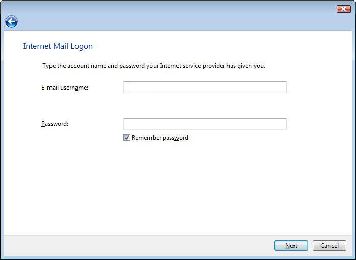 Windows Mail Email Setup